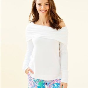 NWT L Lilly Pulitzer Resort White Belinda Pullover